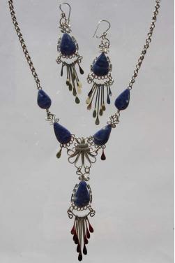 Parure bijoux Ticka pierre lapis-lazuli
