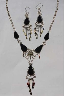 Parure bijoux Ticka pierre onyx