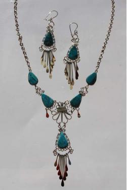 Parure bijoux Ticka pierre turquoise