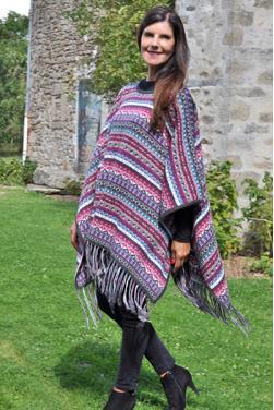 Poncho en Alpaga pour femme