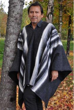 Poncho péruvien alpaga grey