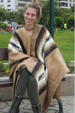 Poncho des Andes grand taille