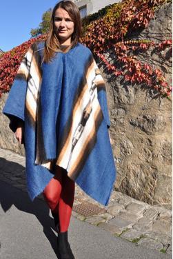 Poncho des Andes en laine d'alpaga