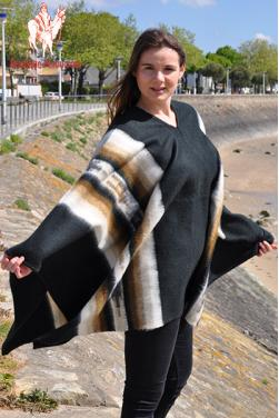 Poncho femme grande taille