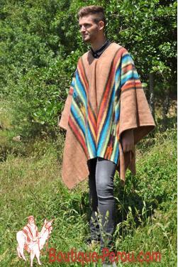 Poncho peruvien Inca. C'est une pièce unique