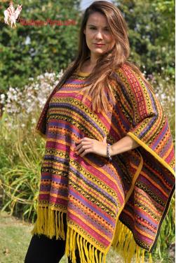 Poncho en Alpaga grand confort pour femme