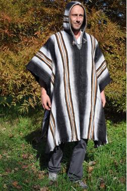 Poncho Chaman laine d'alpaga