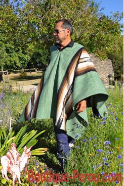 Poncho peruvien Inca.
