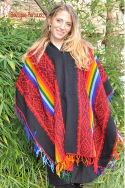 Poncho rouge des Andes