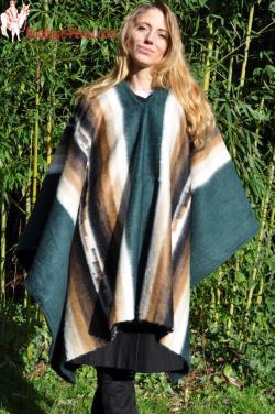 Poncho Andes en laine d'alpaga