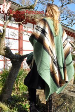 Poncho pour femme en laine d'alpaga
