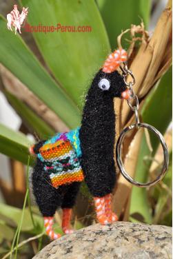 Porte clefs péruvien lama noir