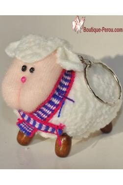 Porte clefs mouton péruvien