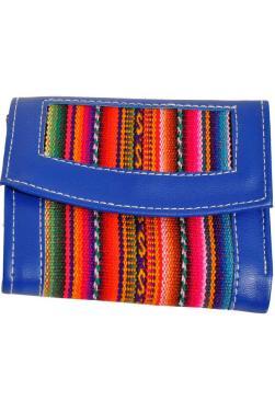 Portefeuille bleu.