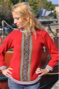Pull-over gringa rouge