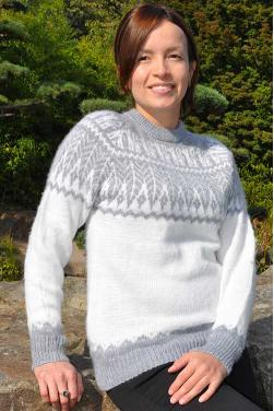 Pull col rond pour dames