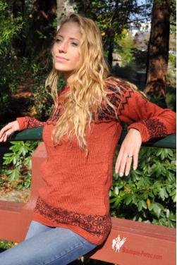 Pull en laine d'alpaga