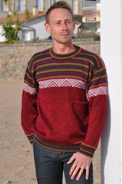 Pull-over rojo indio el gringo