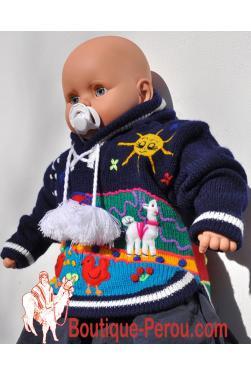 Pull bébé fait main