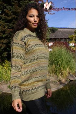 Pull-over en laine d'alpaga.