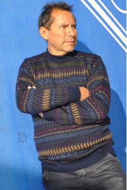Pull noir en laine d'alpaga