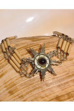 Bracelet en bambou et verre murano