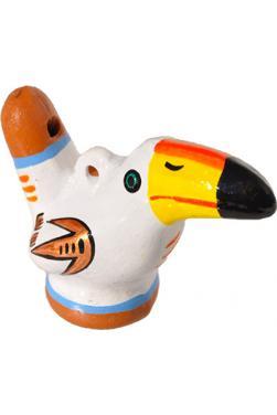 Sifflet oiseau toucan blanc