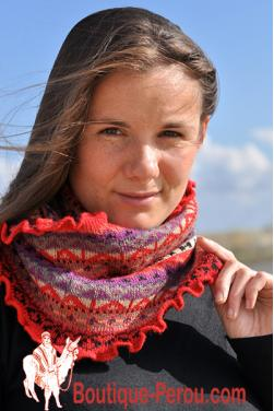 Echarpe rouge des Andes