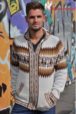 Veste  peruvienne en laine d'alpaga