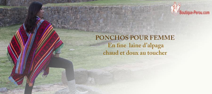 Ponchos-femme-chaud-et-doux-au-toucher-Boutique-Perou